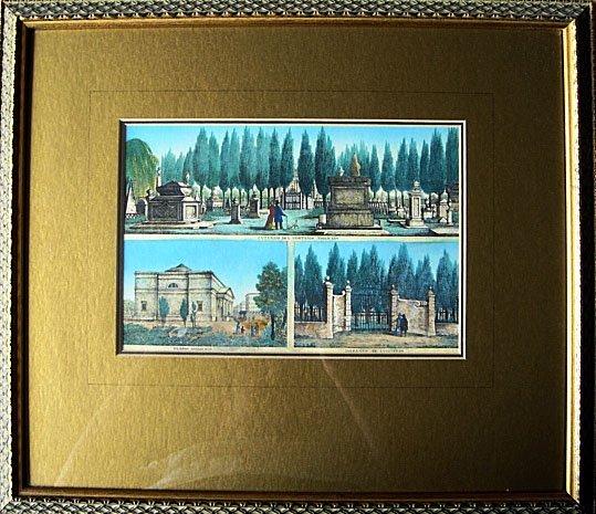 20: Set 3 x Rare Aquatint by Carlo Verico Italy ca1830