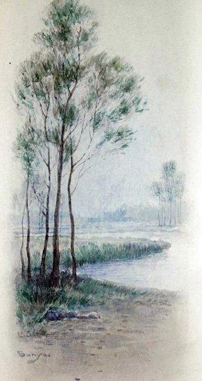 19: Important Japanese Watercolor by Loki Bunsai ca1880