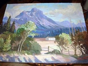 Alberta Landscape by John Bowram Group Seven 1950
