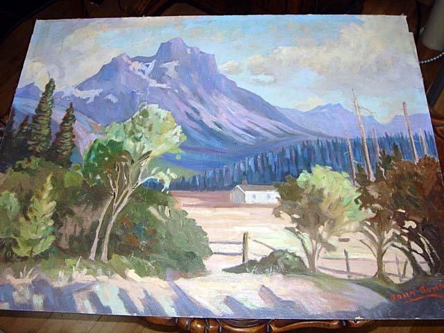 18: Alberta Landscape by John Bowram Group Seven 1950