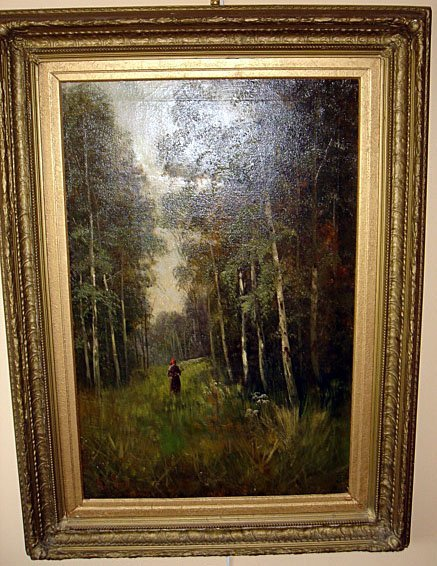 16: Large Pastoral Oil Canvas by R. C. SNELL ca1880