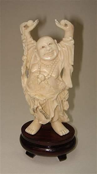 Superb Japanese Ivory Carved Buddah ca1930
