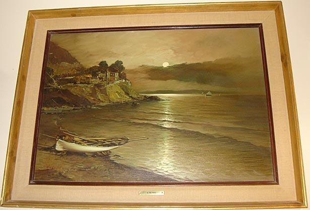 12: Fine Bay Naples Painting by Alessandro Petrin ca195