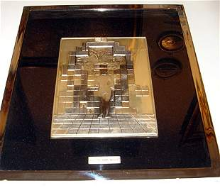 Genuine Salvador Dali Sterling Silver Bas Relief Pla