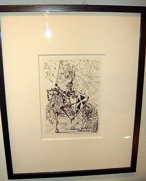 3: Salvador Dali Restrike Engraving El Cid With Cert.