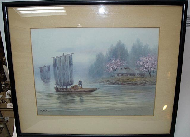 300: Listed Watercolor Japan by K Seki ca1920