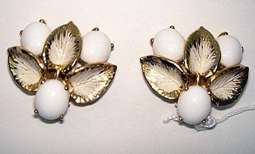 Pr Floral Earrings by Elsa Schiaparelli ca1960