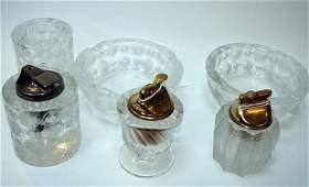 196: Collection 6 x Pieces Art Deco Lalique Glass