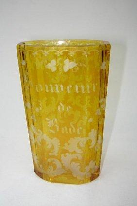 7: Exceptional Bohemian Souvenir Vase Bade ca1870