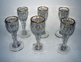 15: Set of 6 x Georgian Cordial Glasses ca1790