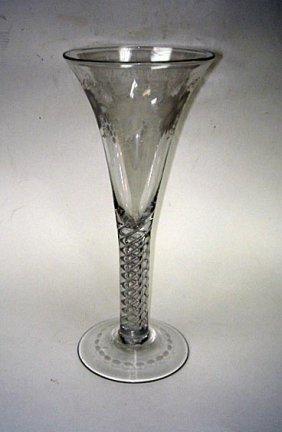 "17: Very Rare 10"" Huge Georgian Air Twist Glass 1800"