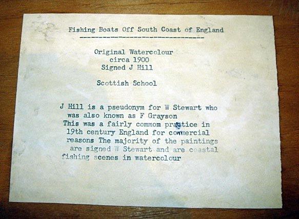110: Maritime W/Colour Listed UK Artist William Stewart - 5
