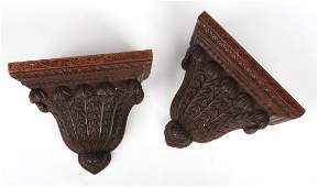 A pair of 19th century Anglo Indian carved hardwood