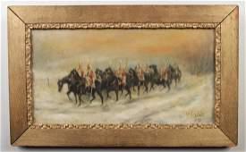 J. B. Constable. A gilt framed 19th century oil on