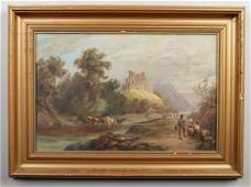 An early 20th century gilt framed oil on canvas