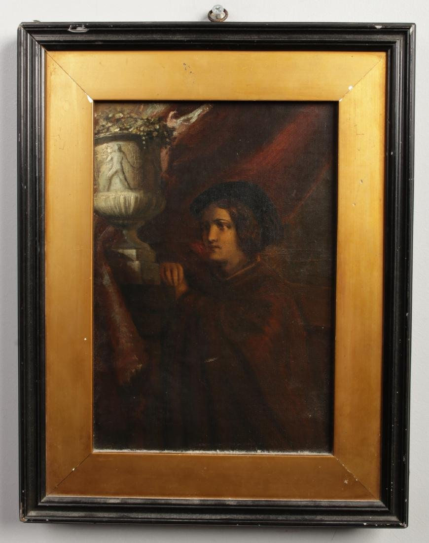 A 19th century oil on canvas on board, in gilt and