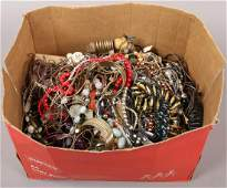 A large quantity of costume jewellery including