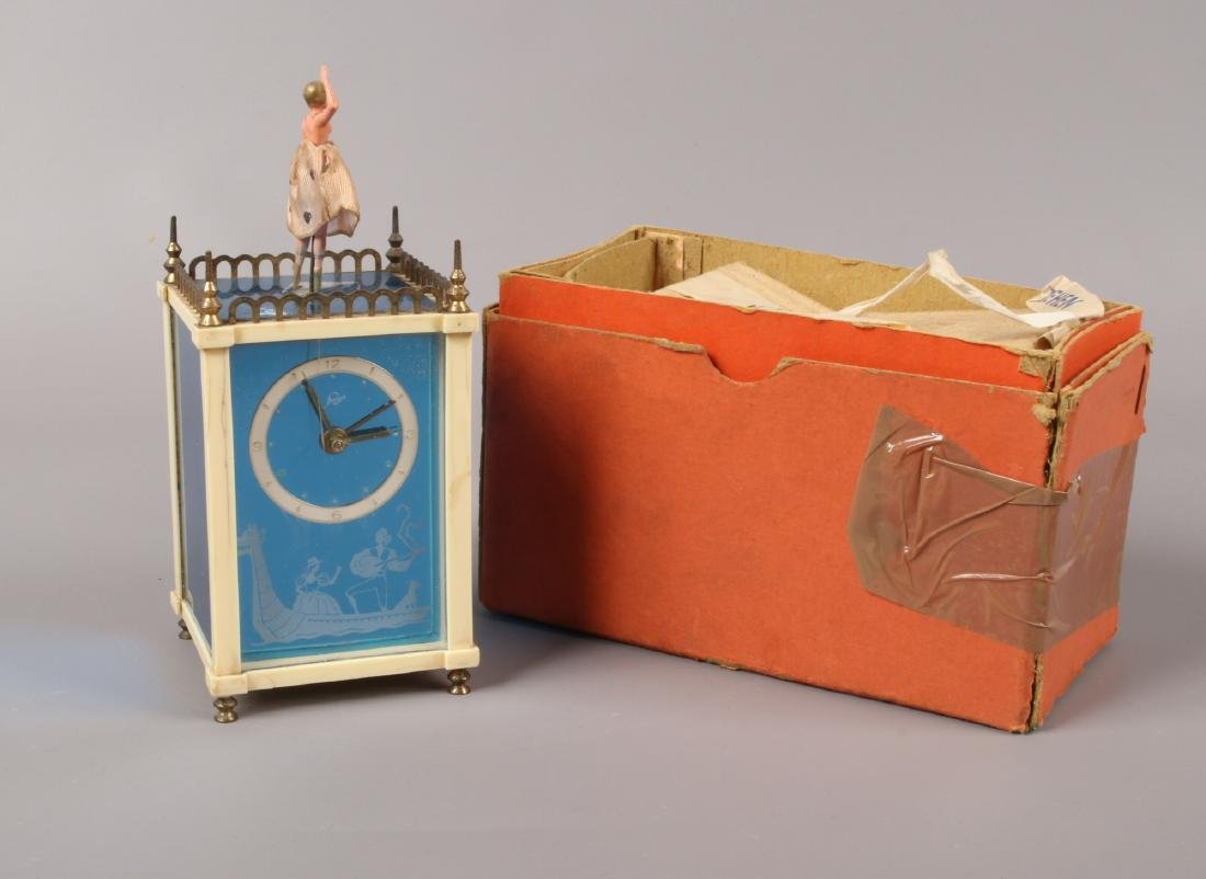 A 1950s German Staiger automaton musical carriage clock