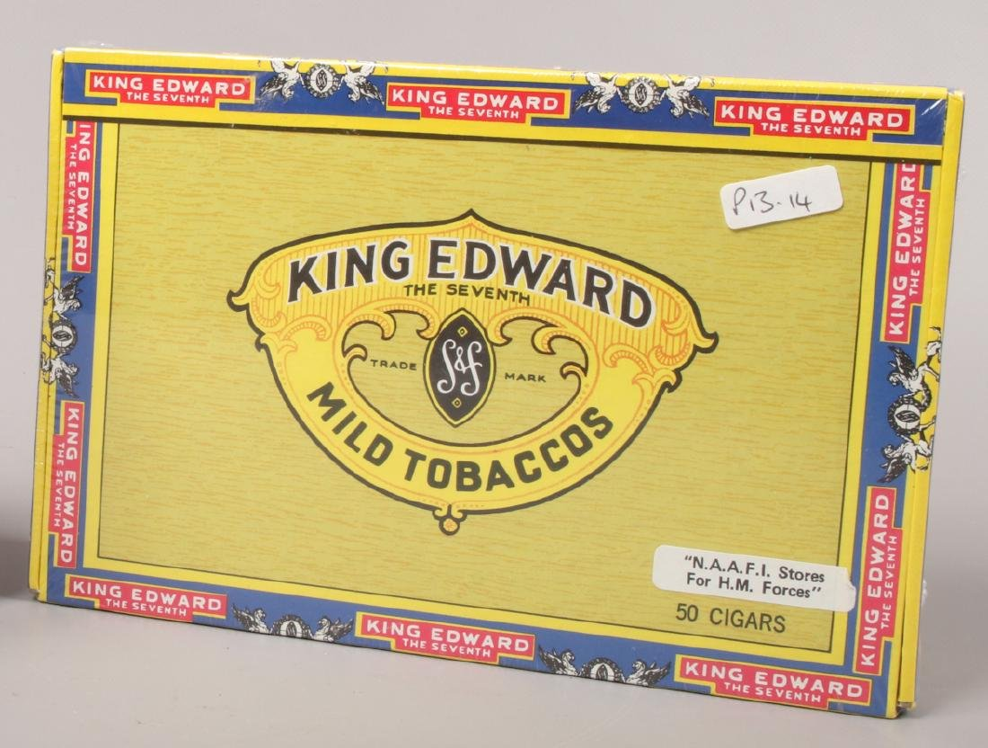 A sealed box of 50 King Edward Imperial cigars.