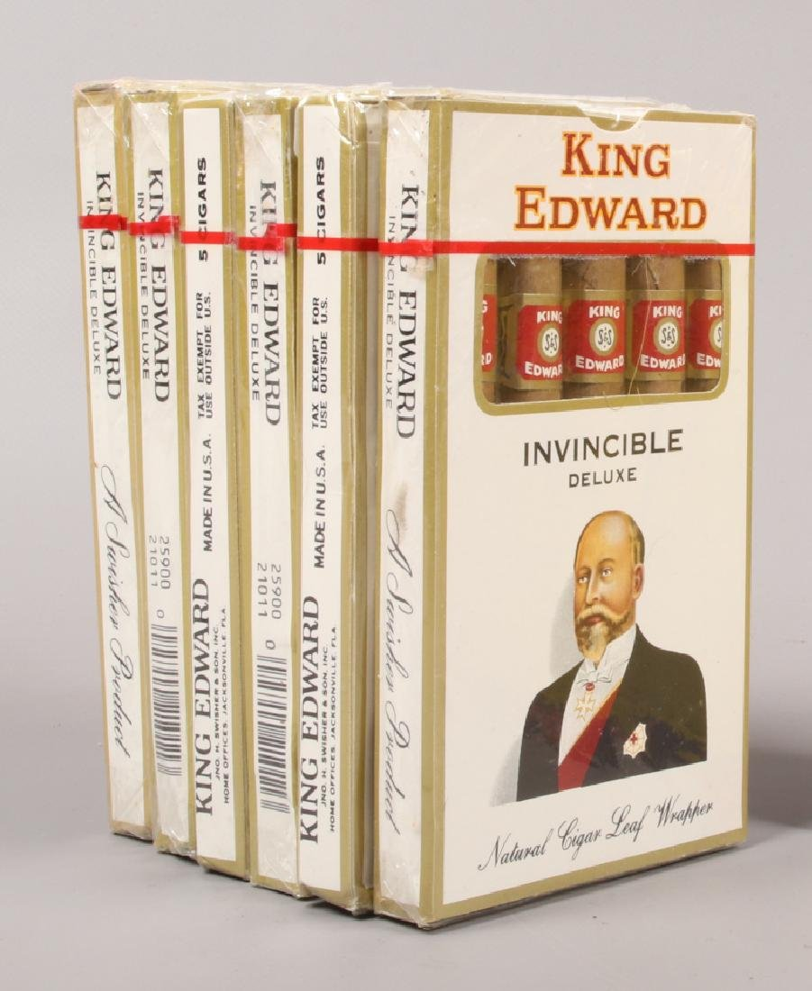 Six pack of five King Edward Invincable Delux cigars.