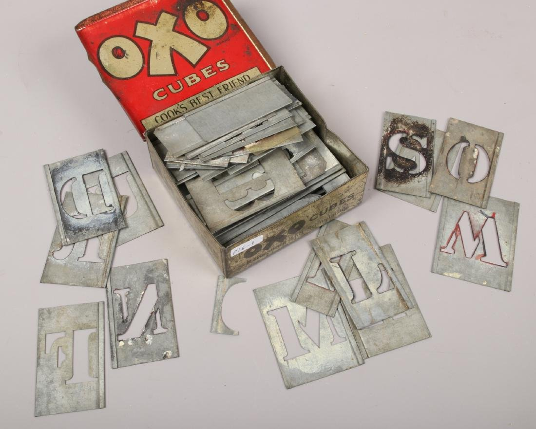 A vintage Oxo advertising tin and contents of various