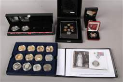 A mixed lot of collectors coins and proof coins