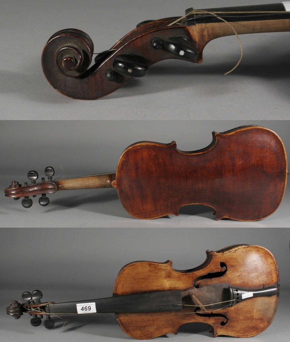 469: A late eighteenth century continental violin in ca