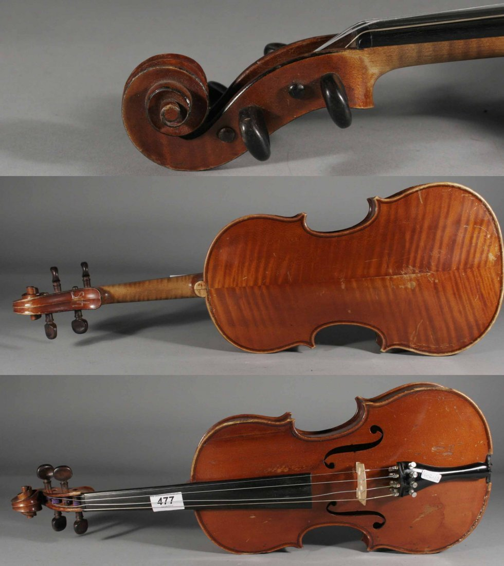 477: A late nineteenth century French Mirecourt violin