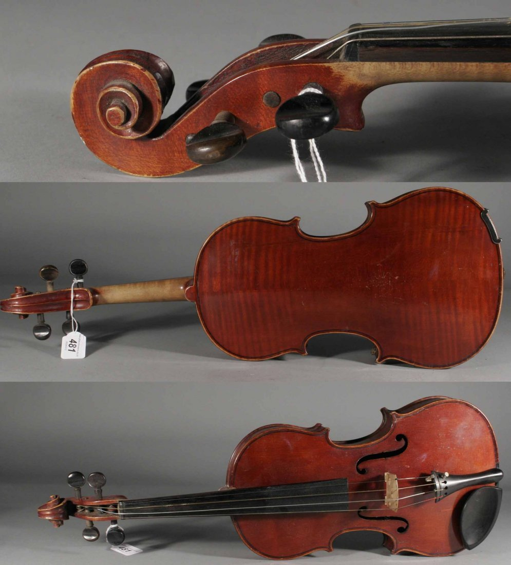 481: A late nineteenth century French Mirecourt violin