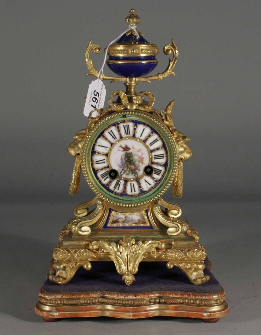 561: A nineteenth century French gilt bronze eight day