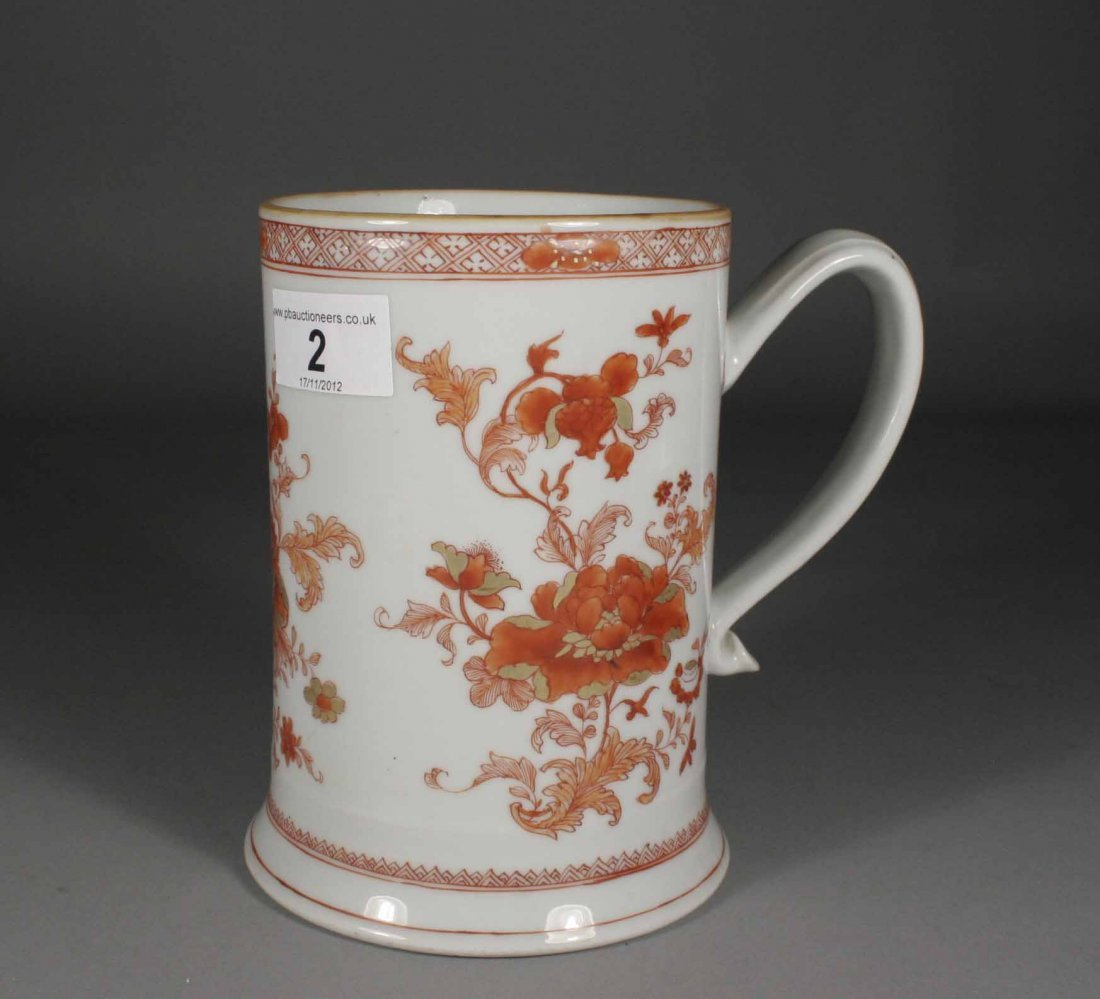2: An eighteenth century Chinese tankard of cylindrical