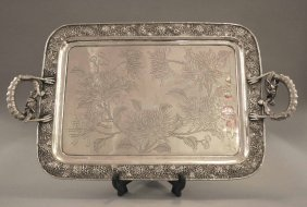 10A: An early twentieth century Chinese silver serving