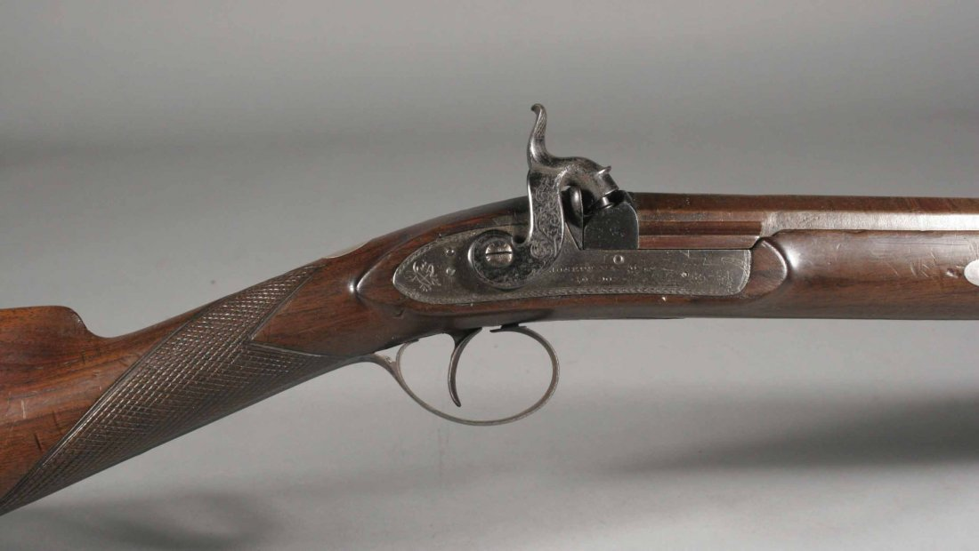 677: A Georgian percussion cap rifle by Joseph Manton L
