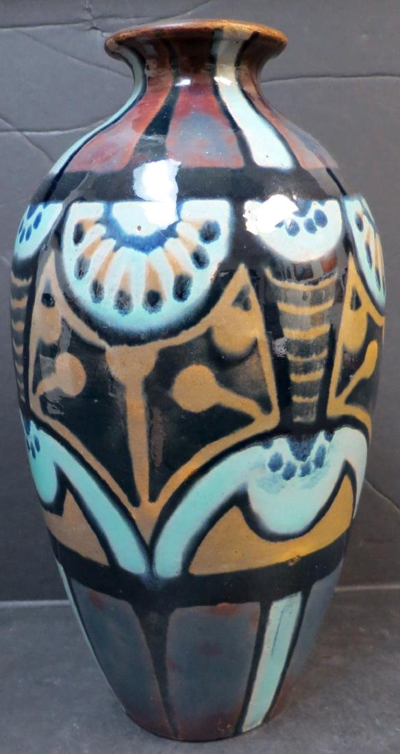 "Porcelain vase - Art Nouveau by Bernard H: 9"" Excellent"
