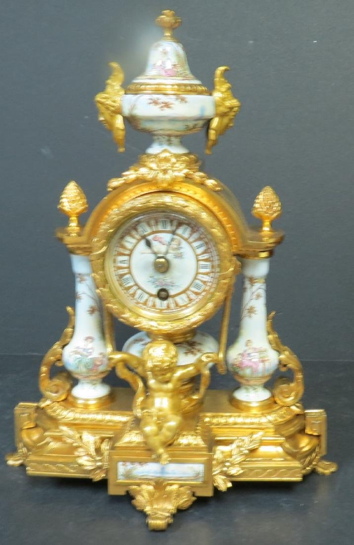F. Linke Clock w/ Cherubs Museum Quality 1900