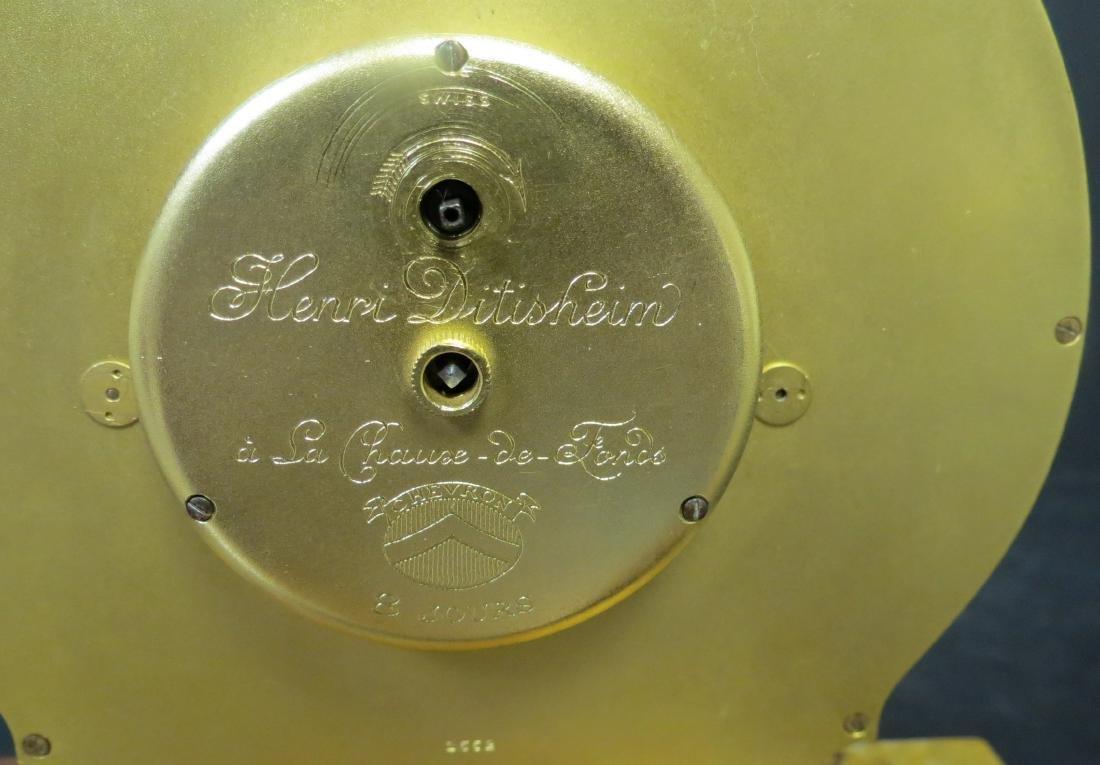 "Enamel & Bronze Clock Museum Quality H:7""W:7"" - 3"