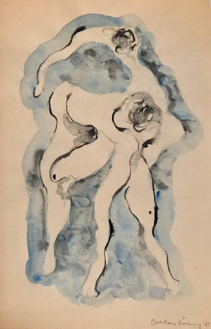 Dorothea Tanning 1963 - Pencil & watercolor on paper