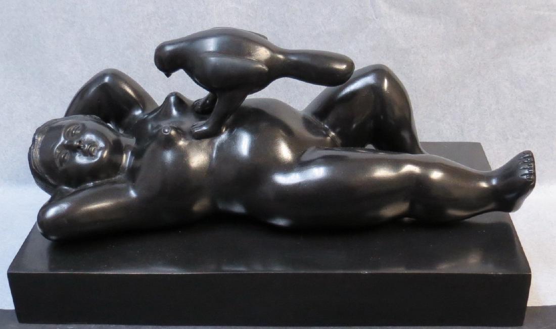 "Fernando Botero - Bronze ""Mujer con Paloma"""