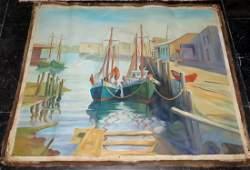 """Emile Albert Gruppe - Oil on canvas Unframed 53"""" x 44"""""""