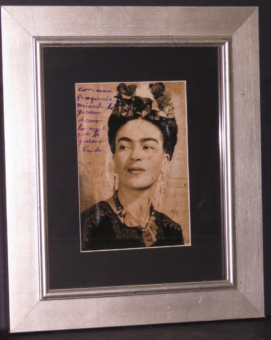 """Frida Kahlo - Photo dedicated - 5.5"""" x 8"""""""