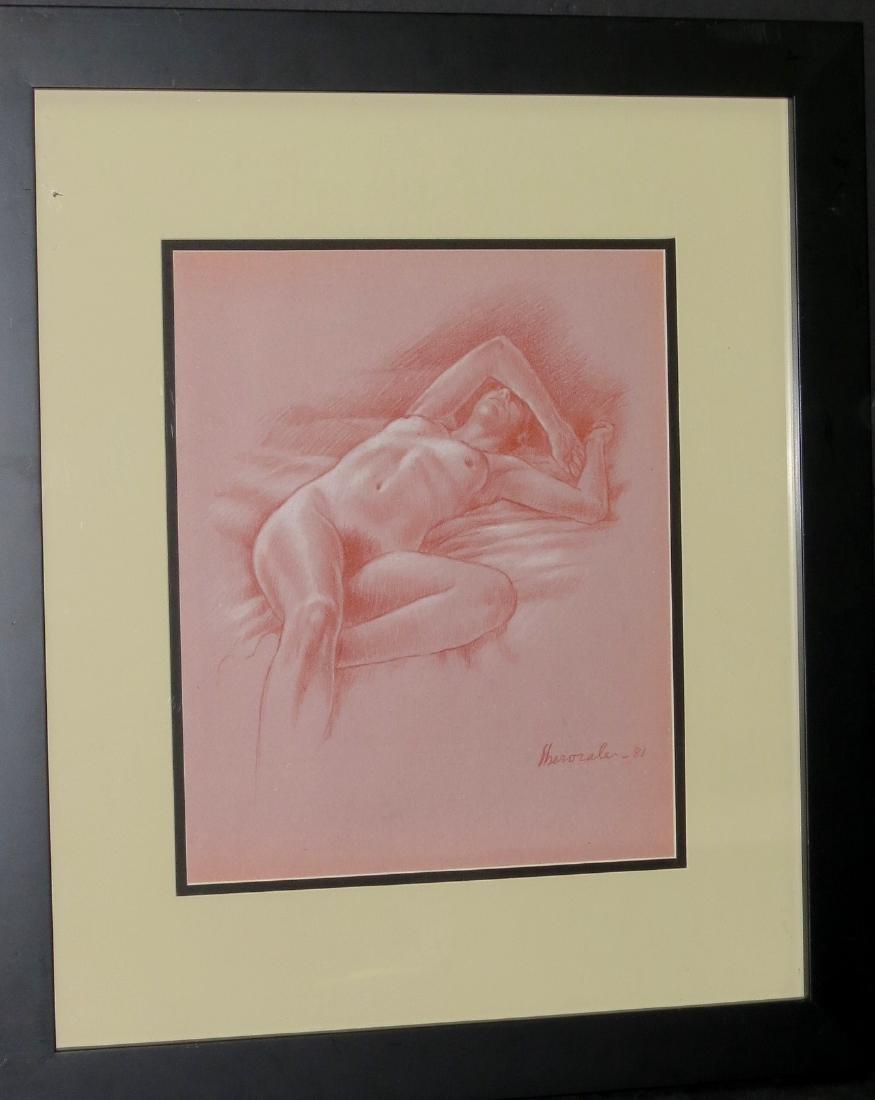 Dario Morales 1981 Pastel on paper  - COA