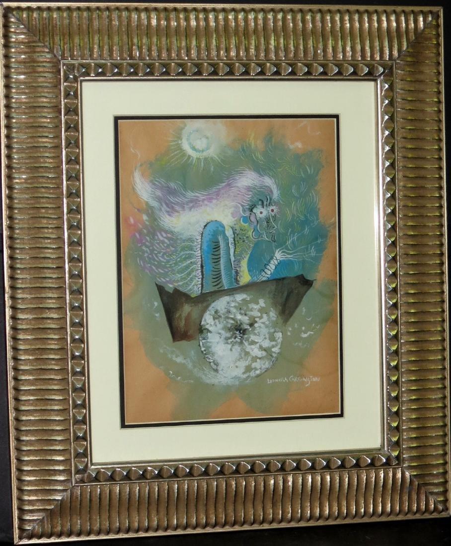 Leonora Carrington - Watercolor on paper - COA