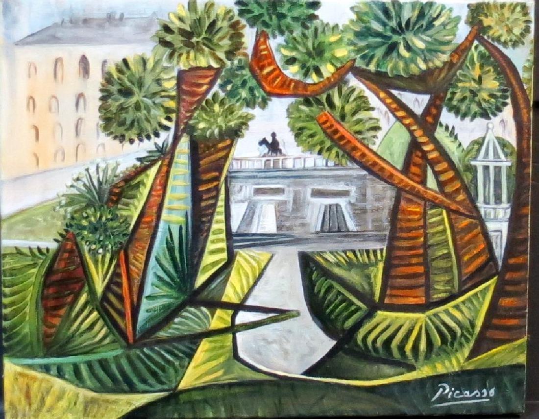 "Pablo Picasso (Attrib) Oil on canvas 20.2"" x 16.2"""