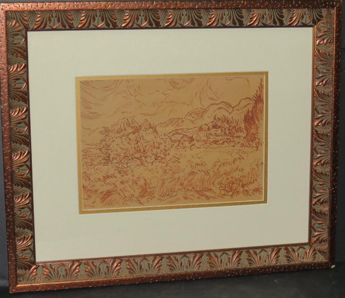 Vincent van Gogh (Attrib) Watercolor on paper COA