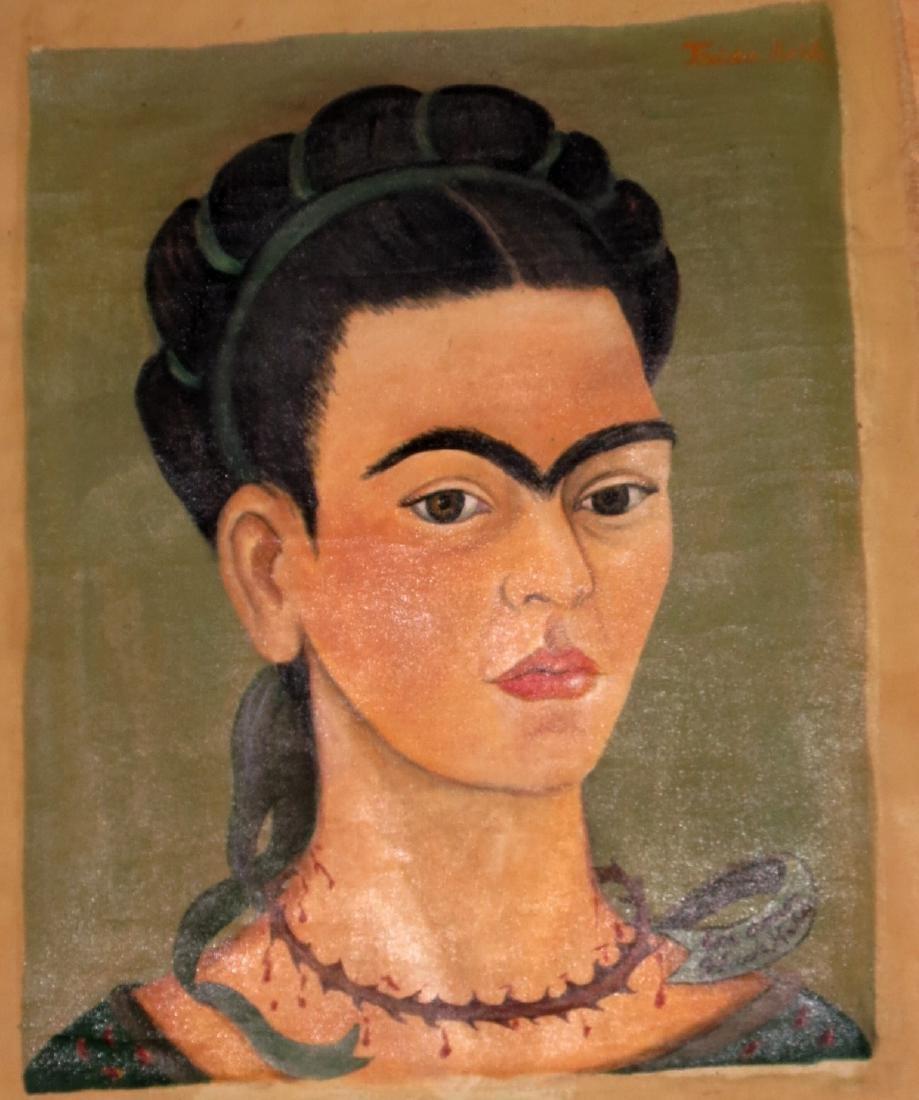 """Frida Kahlo -Oil on canvas """"Con Amor Frida Kahlo"""""""
