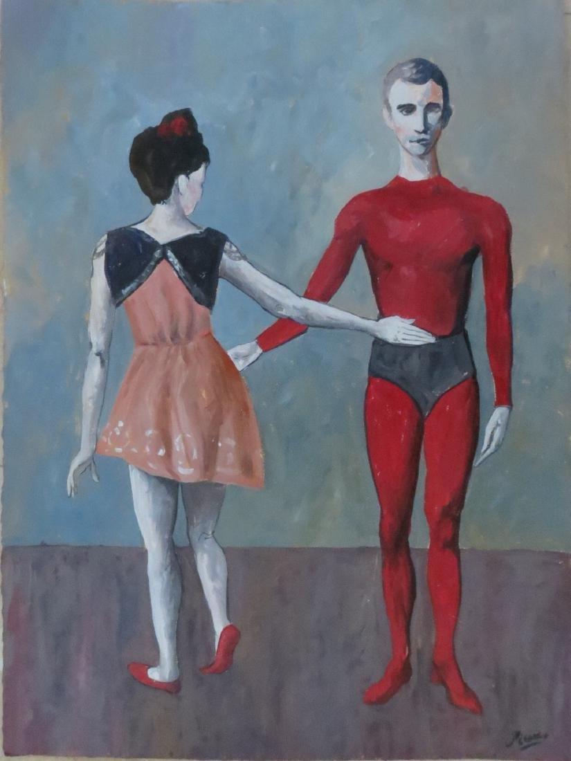 Pablo Picasso  Attrib, Watercolor/paper