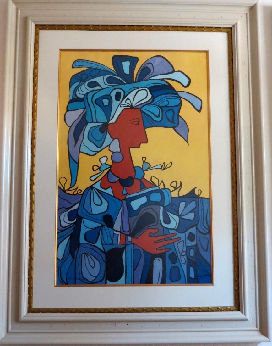 Cundo Bermudez 1988 Watercolor - COA by C. Basulto