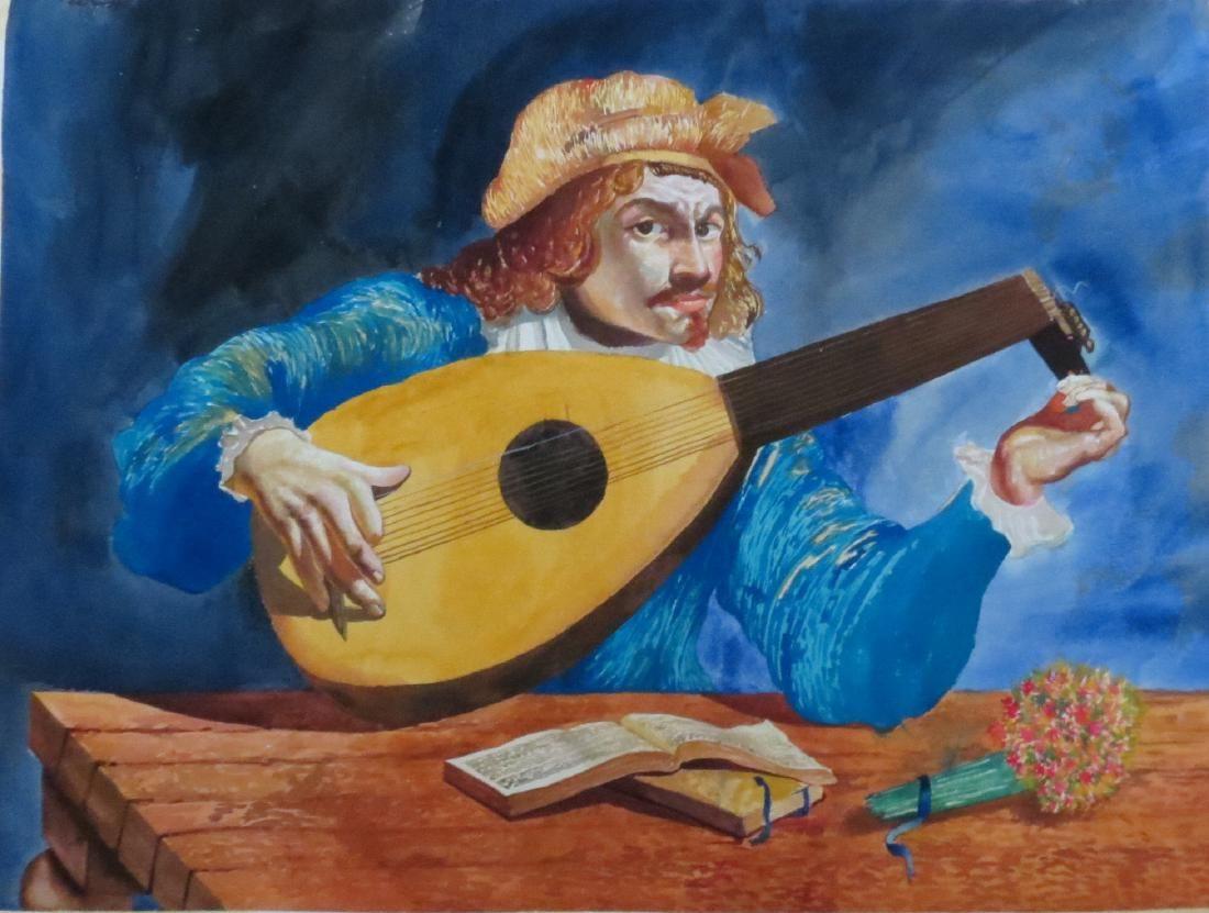 Pierre Auguste Renoir - Watercolor on paper COA
