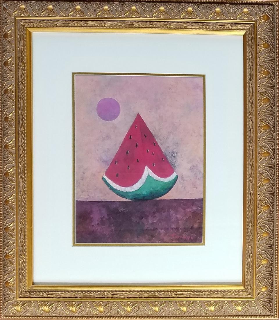 Rufino Tamayo - Gouache on paper - Watermelon