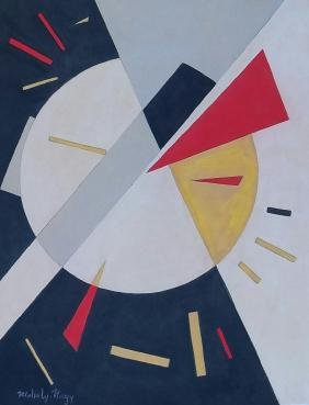 Laszlo Moholy Nagy - Mixed media on paper - COA